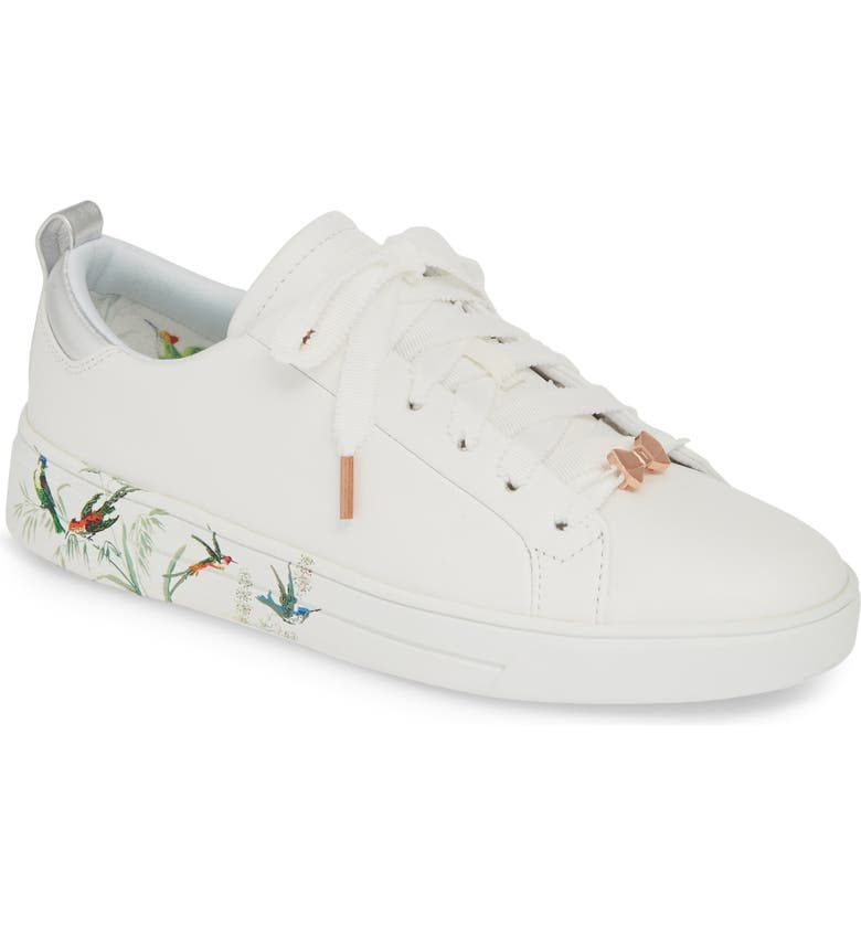TED BAKER LONDON Roully Sneaker, Main, color, WHITE FORTUNE LEATHER