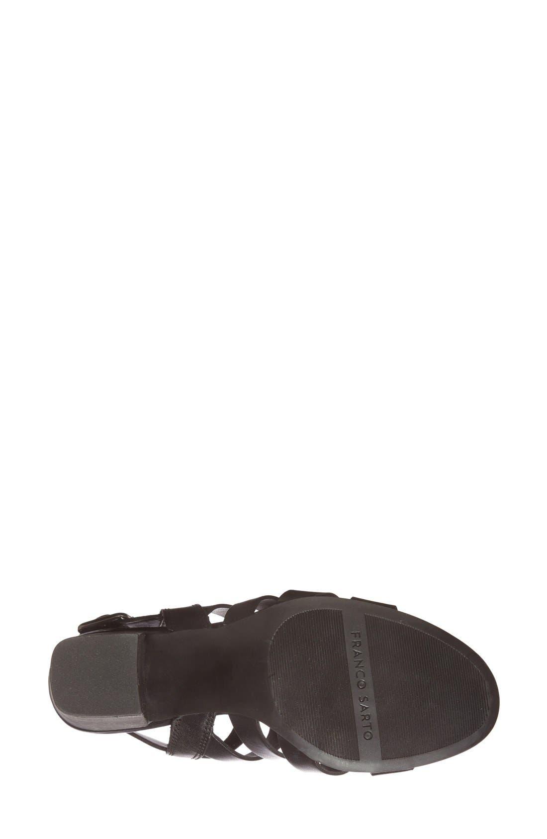 ,                             'Montage' Leather Sandal,                             Alternate thumbnail 4, color,                             001