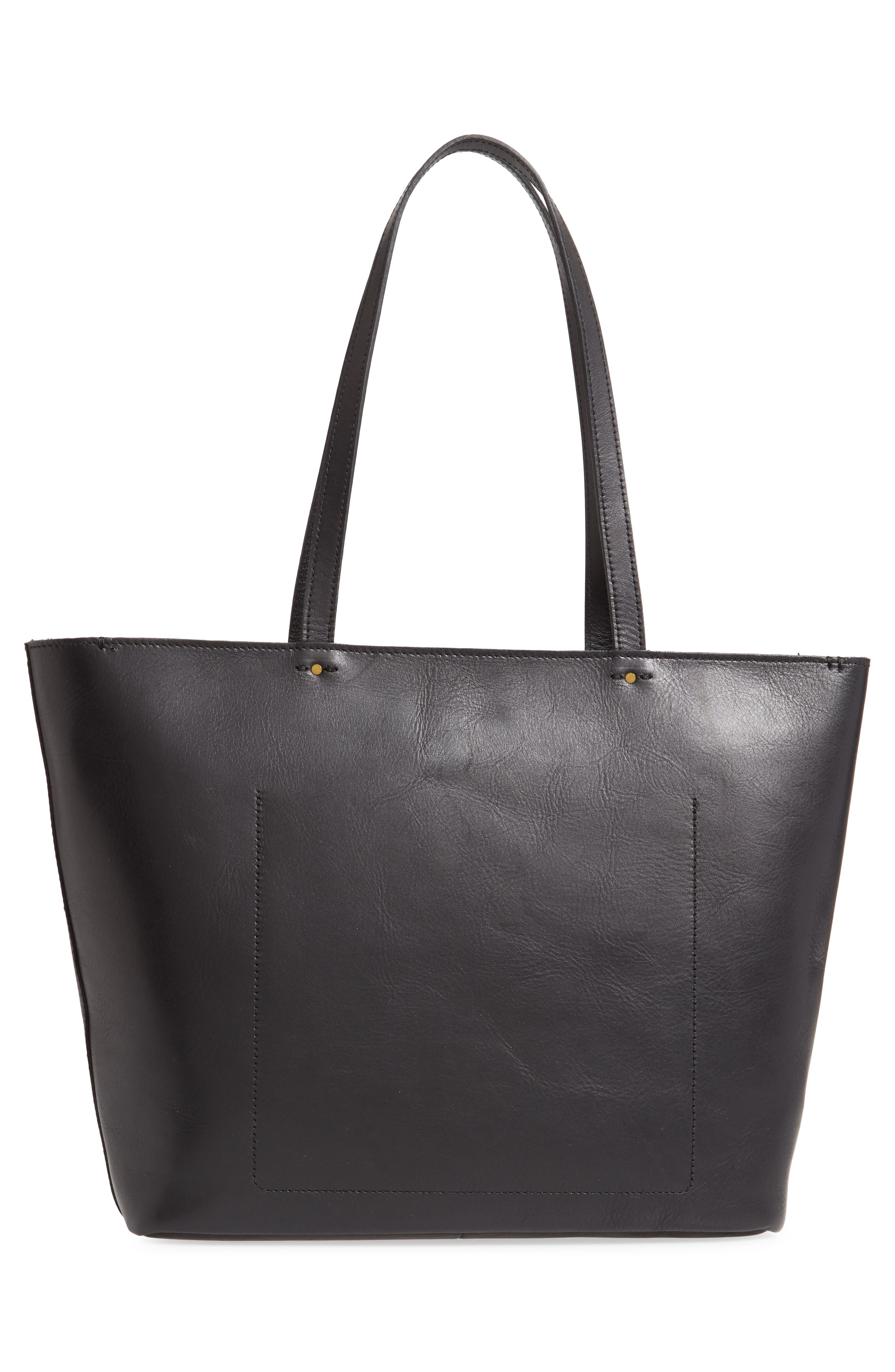 ,                             The Abroad Tote Bag,                             Alternate thumbnail 4, color,                             TRUE BLACK
