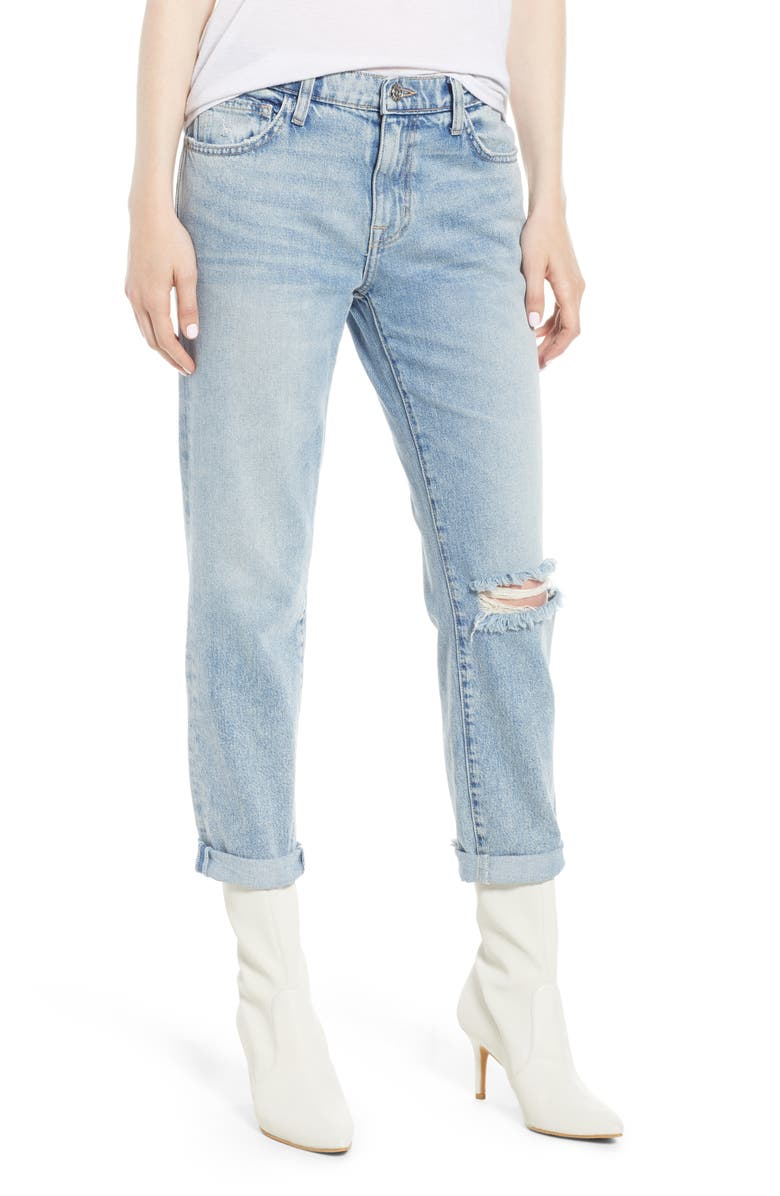 CURRENT/ELLIOTT The Fling Ripped Boyfriend Jeans, Main, color, 450