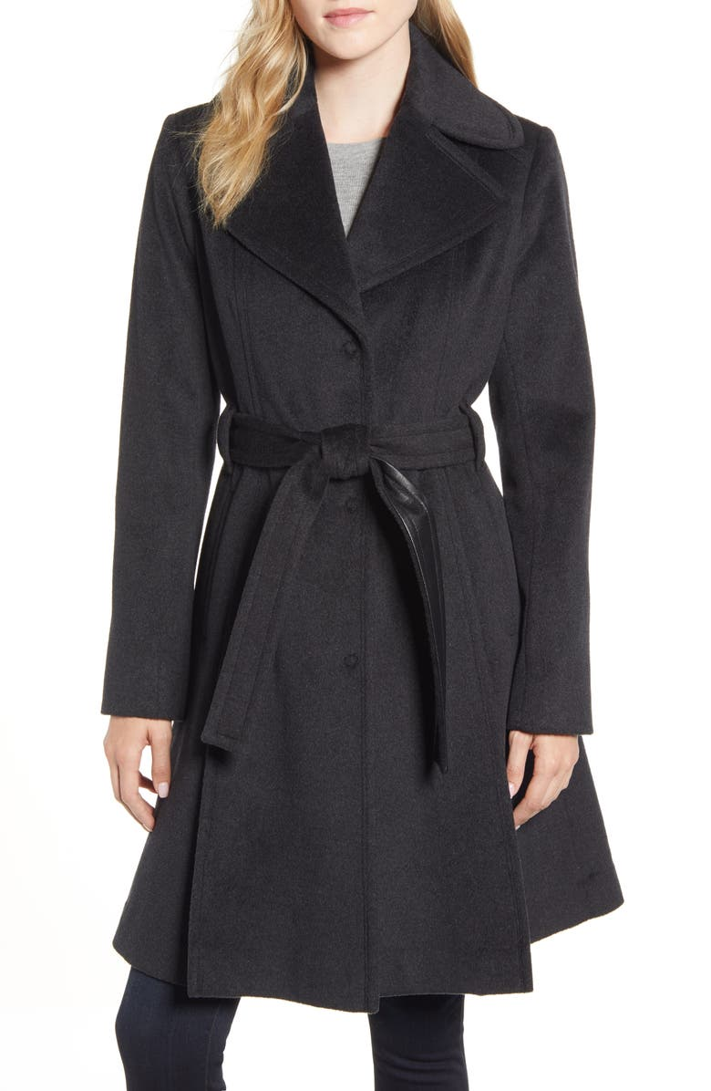 VIA SPIGA Single Breasted Wool Blend Trench Coat, Main, color, 027