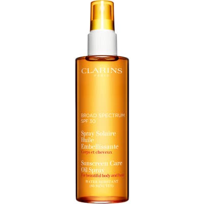 Clarins Sunscreen Care Oil Spray Spf 30 For Skin & Hair