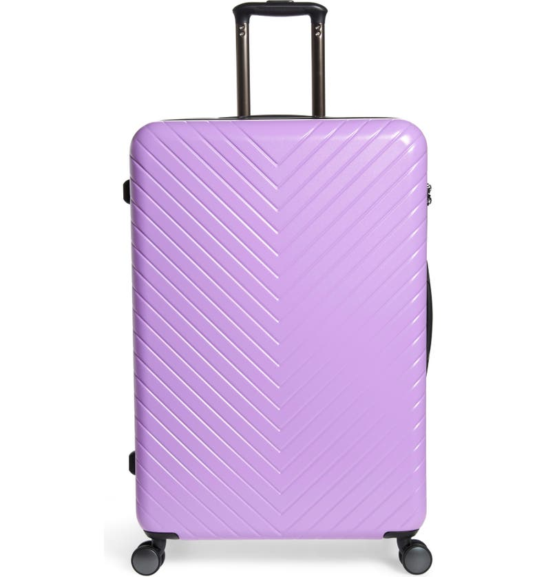 NORDSTROM Chevron 29-Inch Spinner Suitcase, Main, color, LAVENDER SWEET
