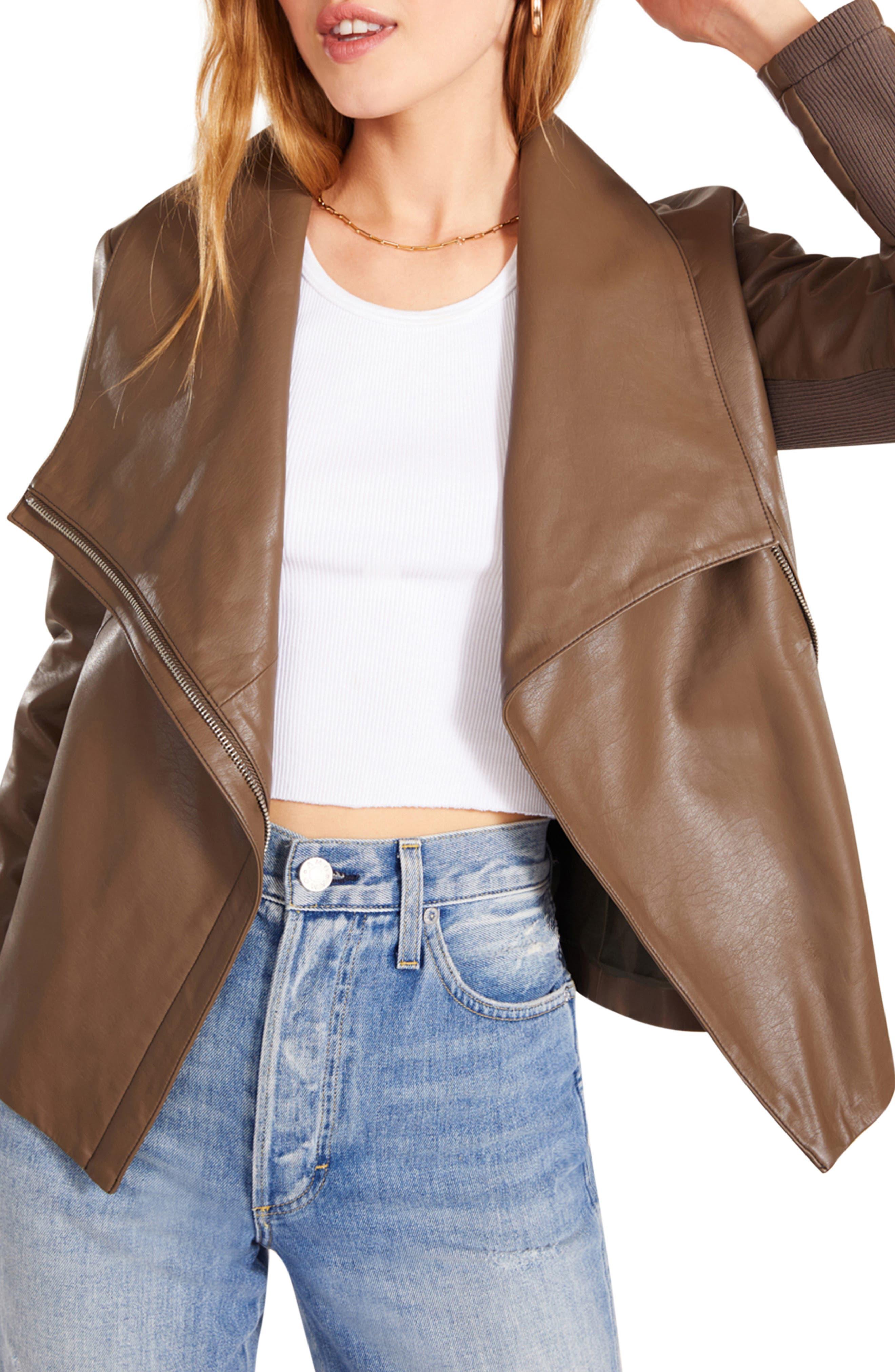 Women's Bb Dakota Up To Speed Faux Leather Moto Jacket