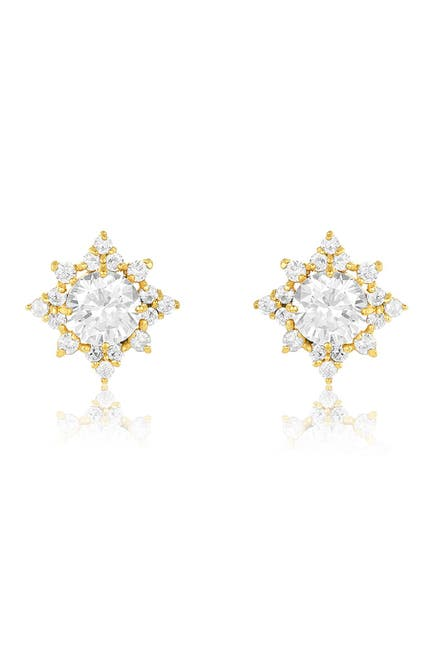 Image of Sterling Forever 14K Gold Plated Sterling Silver CZ Pointed Stud Earrings