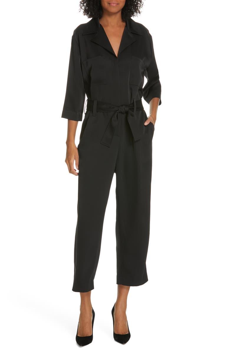JUDITH & CHARLES Altermodern Jumpsuit, Main, color, BLACK