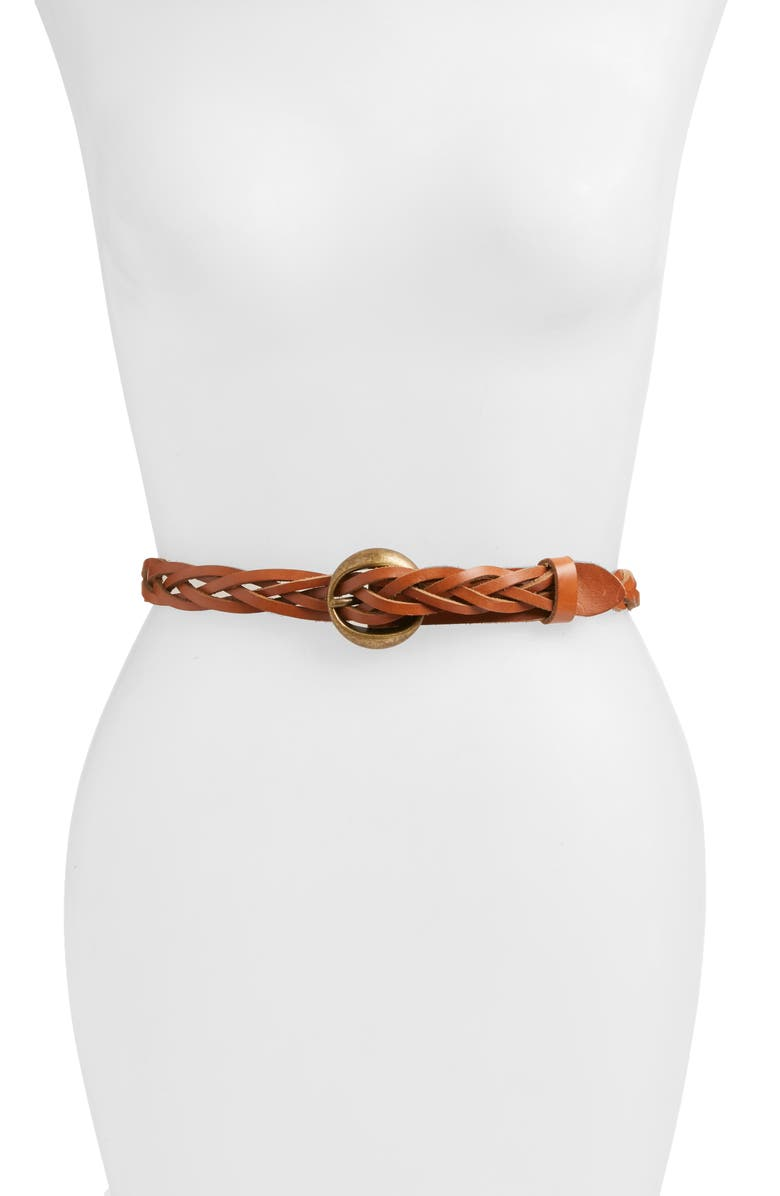 TREASURE & BOND Braided Leather Belt, Main, color, 210