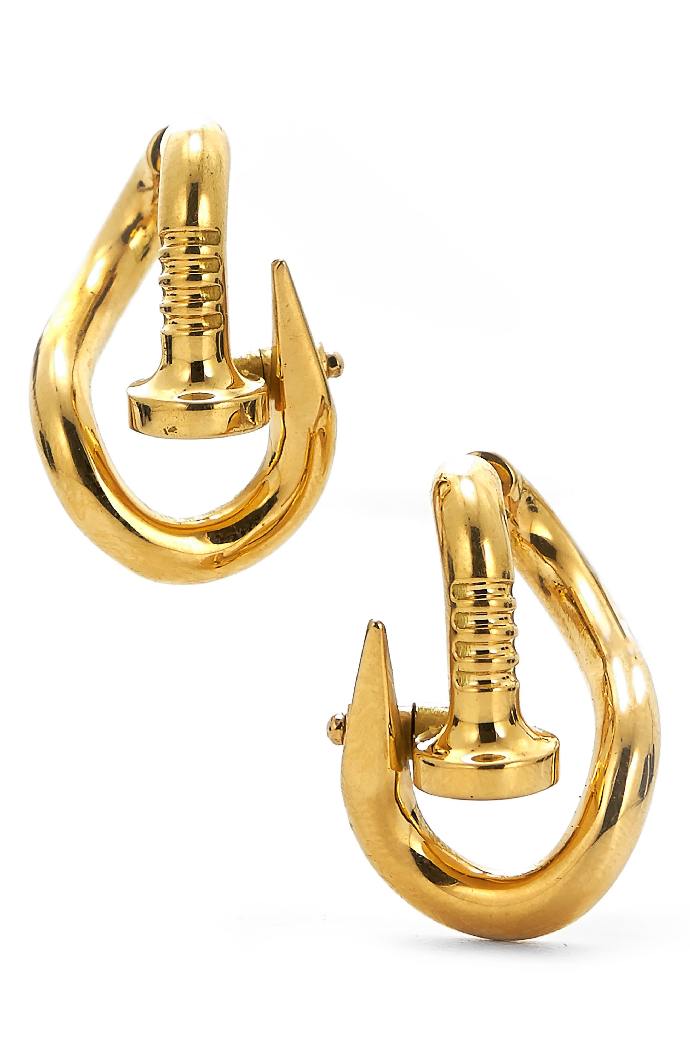 Bent Nail Hoop Earrings