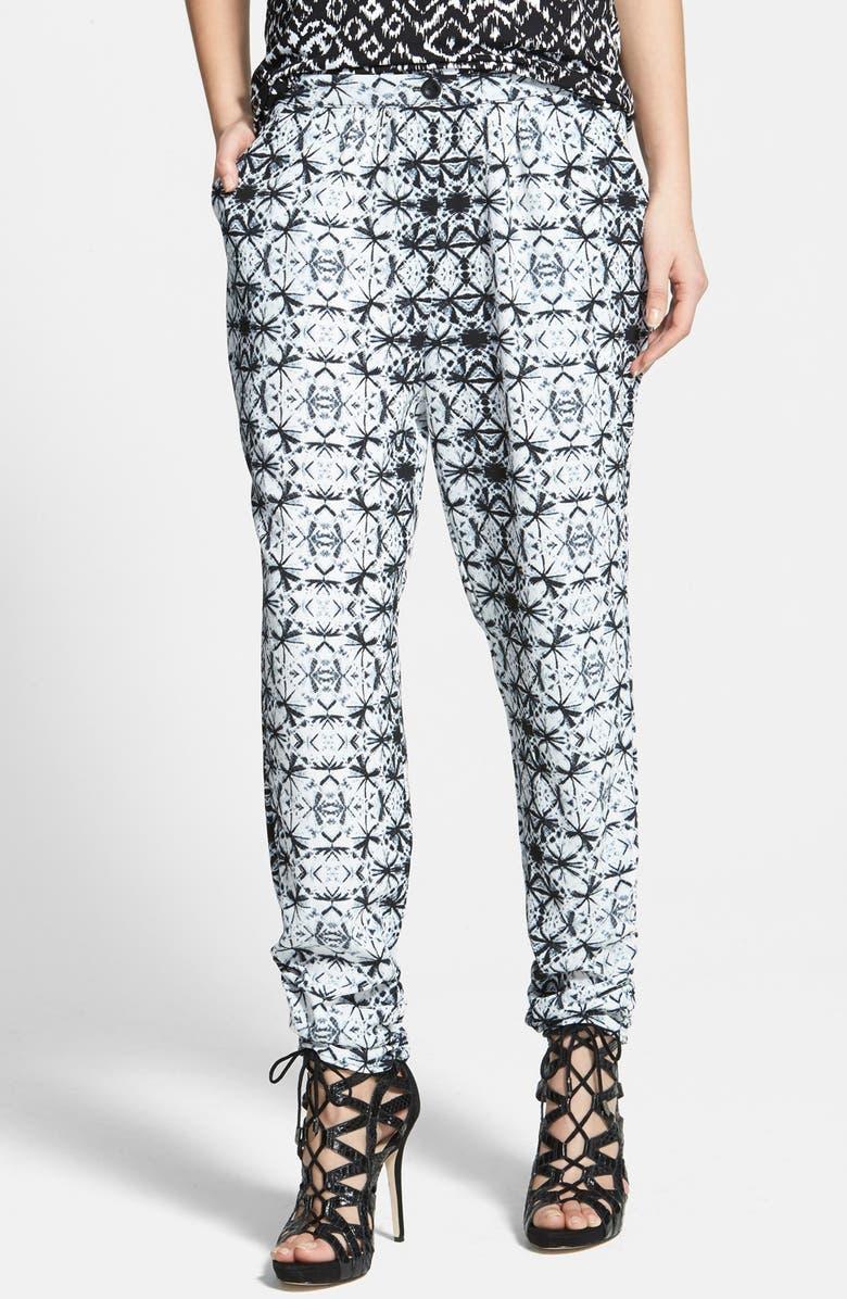 JUNE & HUDSON Print Crepe Pants, Main, color, 900