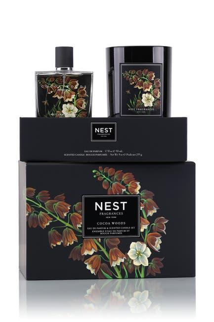 Image of NEST Fragrances Cocoa Woods Eau de Parfum & Candle 2-Piece Set