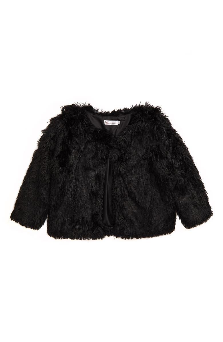 COTTON EMPORIUM Faux Fur Jacket, Main, color, BLACK