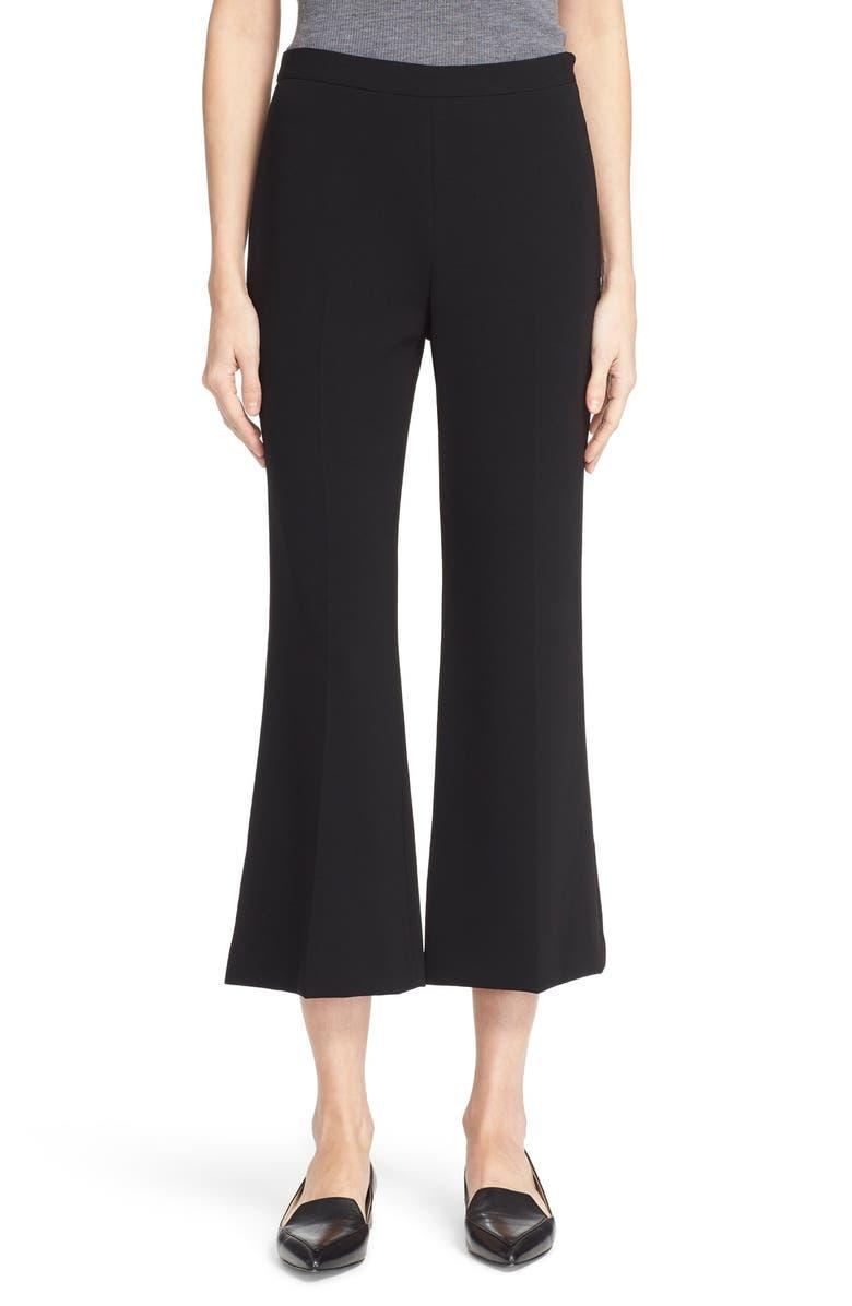 THEORY 'Laleenka' Flare Crop Pants, Main, color, 001