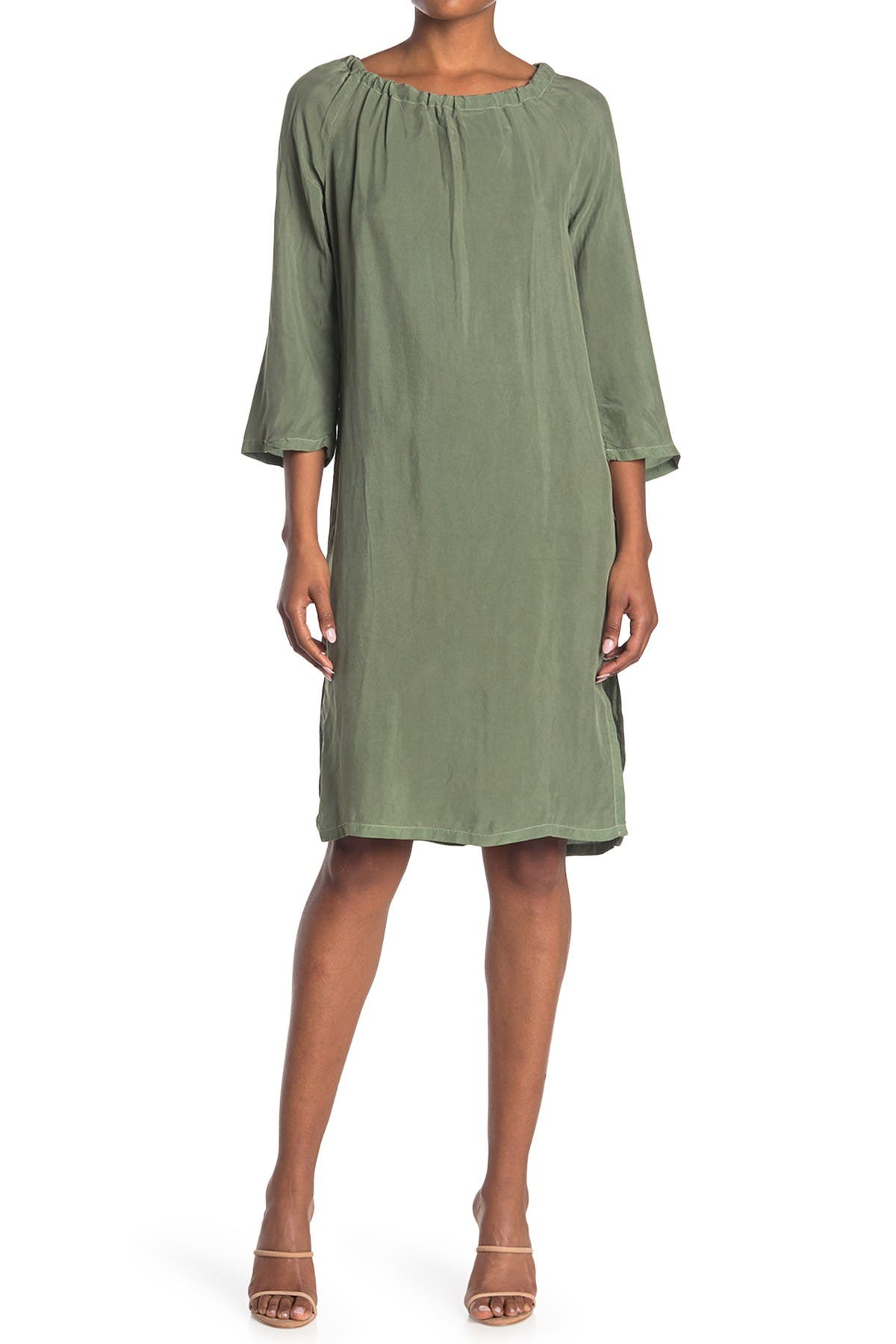 Image of Stateside Cupro Loose Tie Back Dress