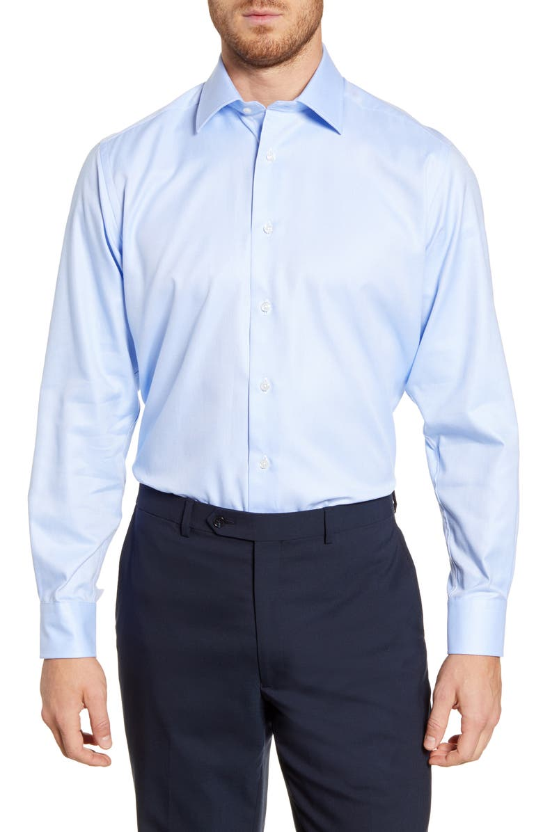 DAVID DONAHUE Regular Fit Oxford Cotton Dress Shirt, Main, color, SKY