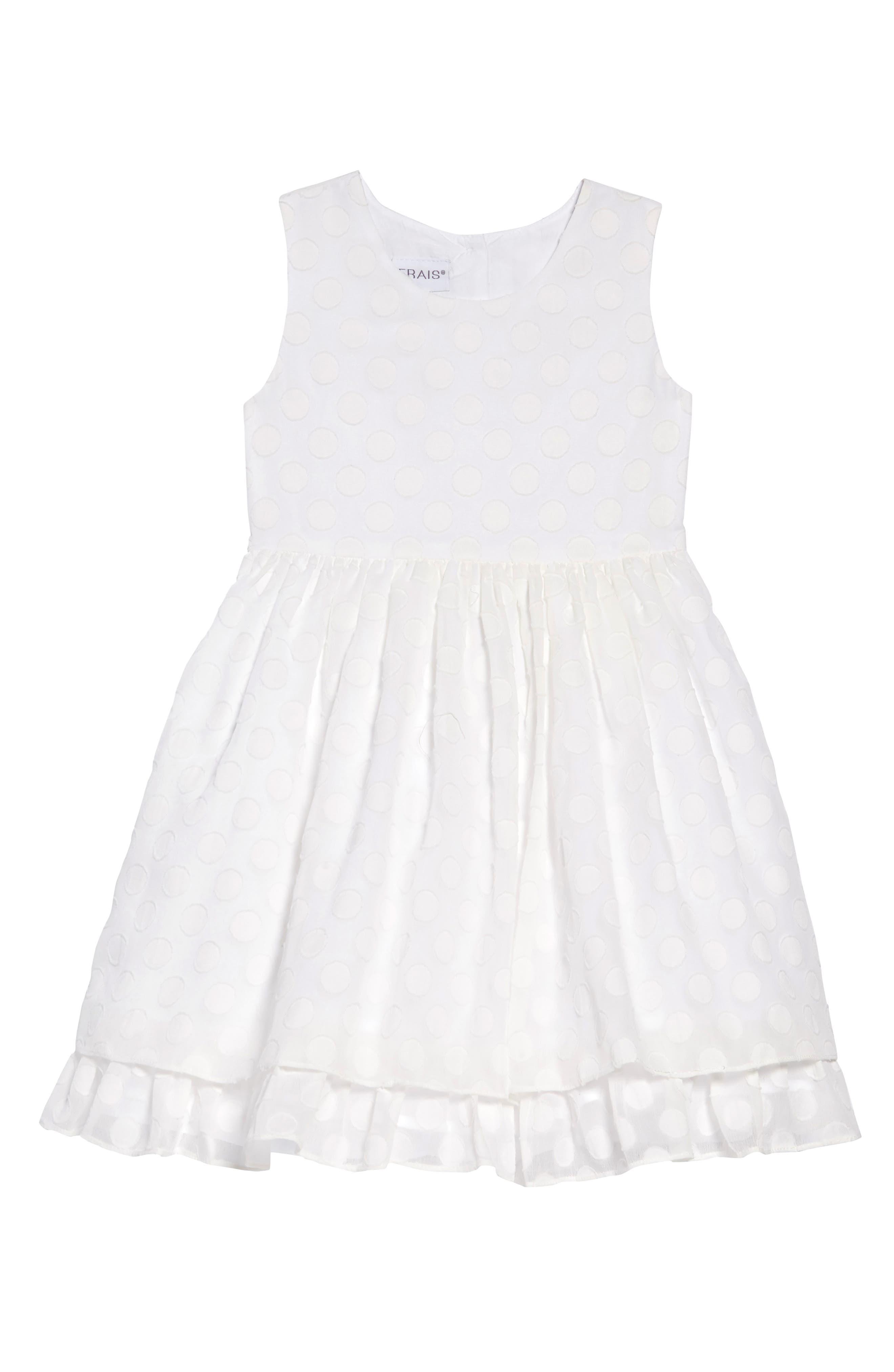 Toddler Girls Frais Peekaboo Fit  Flare Dress Size 2T  White