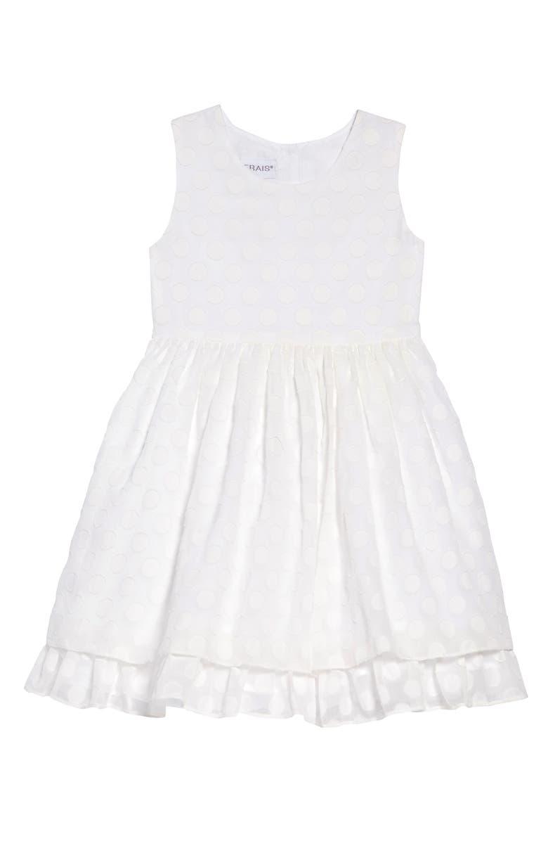 FRAIS Peekaboo Fit & Flare Dress, Main, color, 100