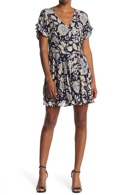 Image of Angie Floral Ruffled Short Sleeve Dress