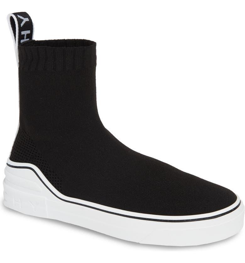 GIVENCHY George V Hi Sock Sneaker, Main, color, 001