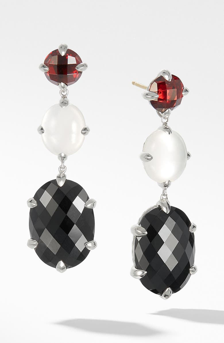 DAVID YURMAN Chatelaine<sup>®</sup> Drop Earrings, Main, color, BLACK ONYX