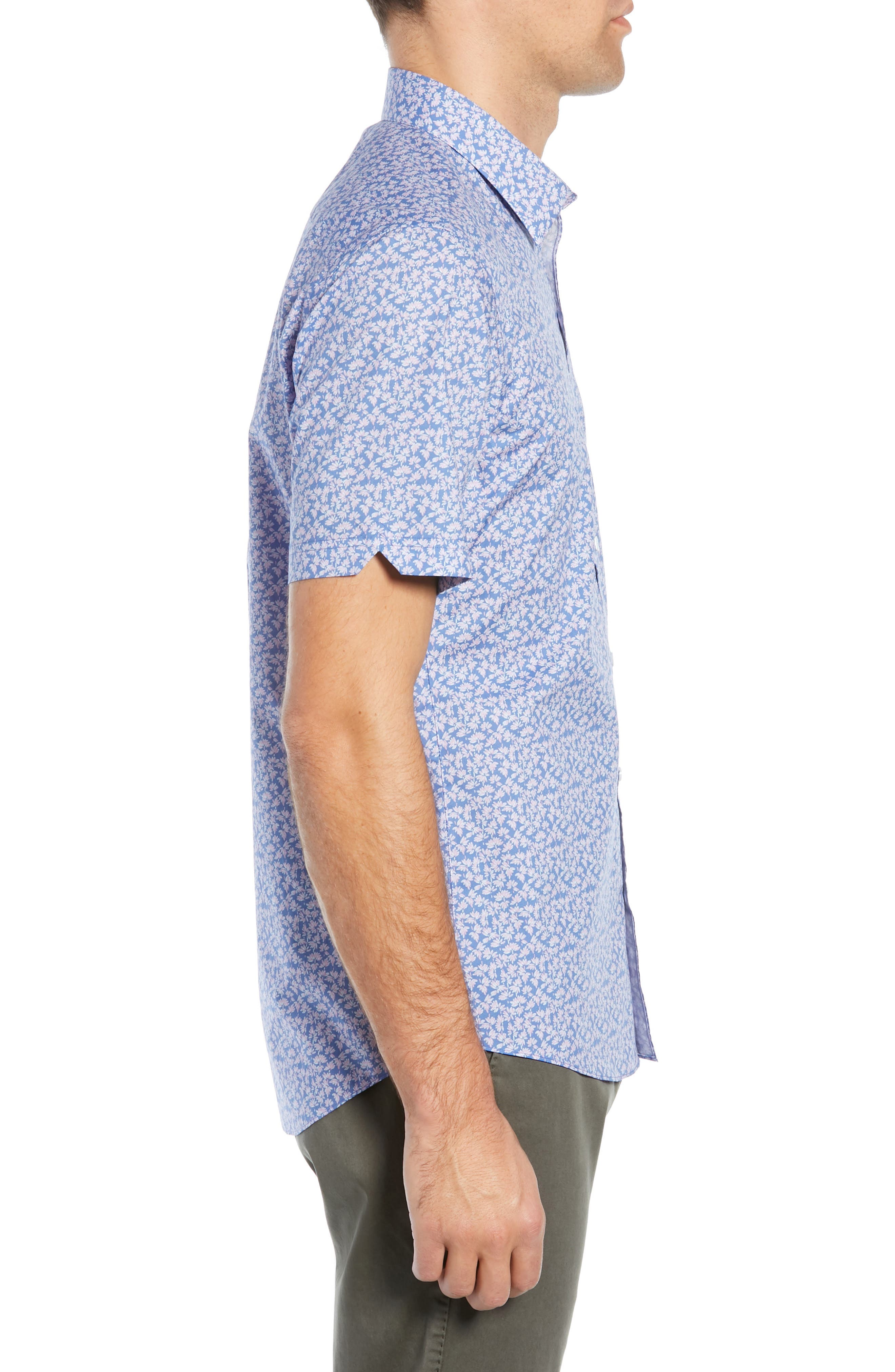 ,                             Wadley Regular Fit Print Sport Shirt,                             Alternate thumbnail 3, color,                             500