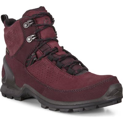 Ecco Biom Terrain Gore-Tex Waterproof Hiking Boot, Burgundy