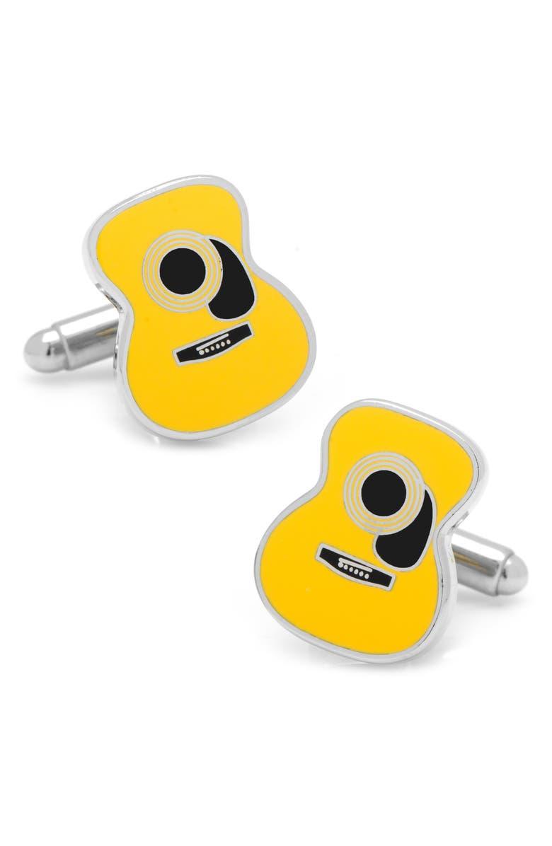 CUFFLINKS, INC. Guitar Cuff Links, Main, color, YELLOW