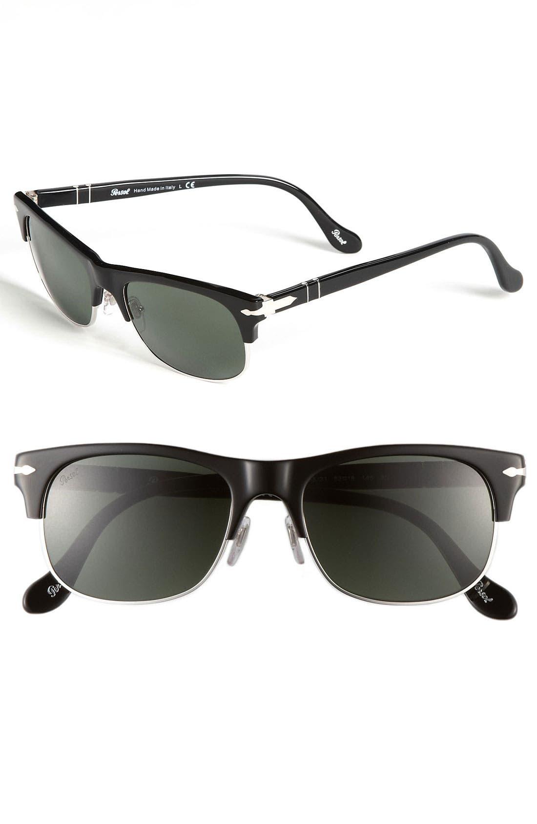 'Cello Clubmaster' 56mm Sunglasses, Main, color, 001