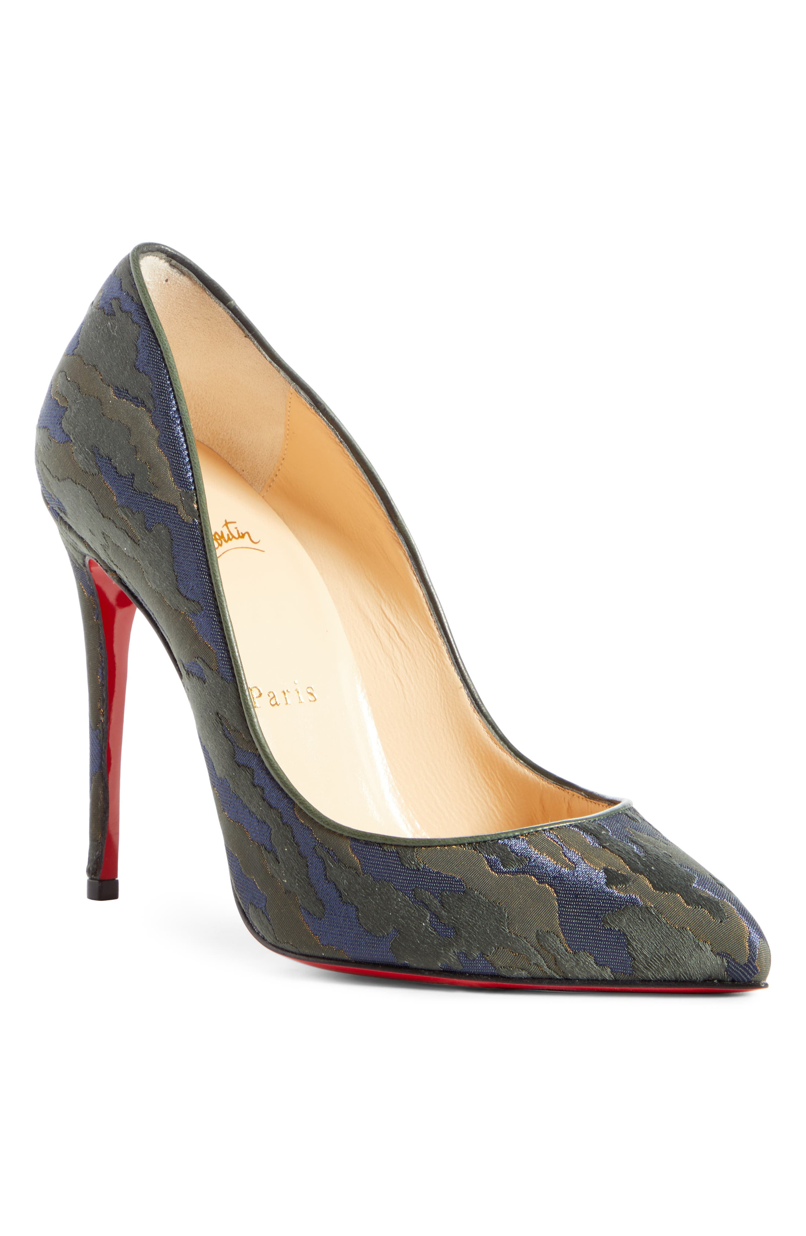 Christian Louboutin Pigalle Follies Camo Pointy Toe Pump, Green