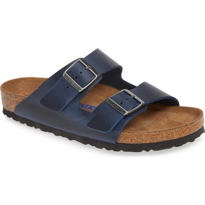 Birkenstock Arizona Soft Slide Sandal,8.5 - Blue