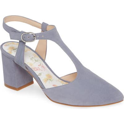 Johnston & Murphy Laina T-Strap Pump- Blue