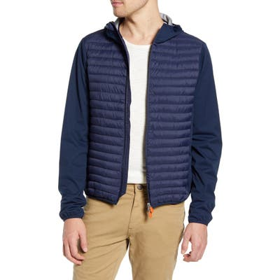 Save The Duck Leisure Hooded Jacket, Blue
