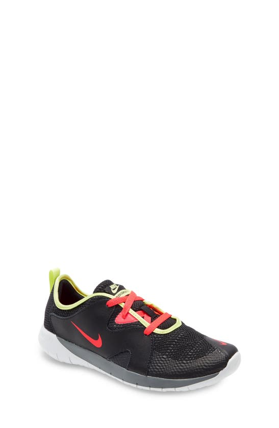 Nike Kids' Flex Contact 3 Gs Running Shoe In Black/ Crimson/ Smoke Grey