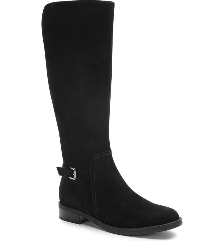 BLONDO Evie Riding Waterproof Boot, Main, color, BLACK SUEDE
