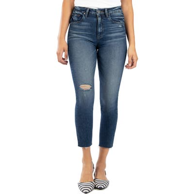Kut From The Kloth Rachael Ripped Raw Hem Mom Ankle Jeans, Blue