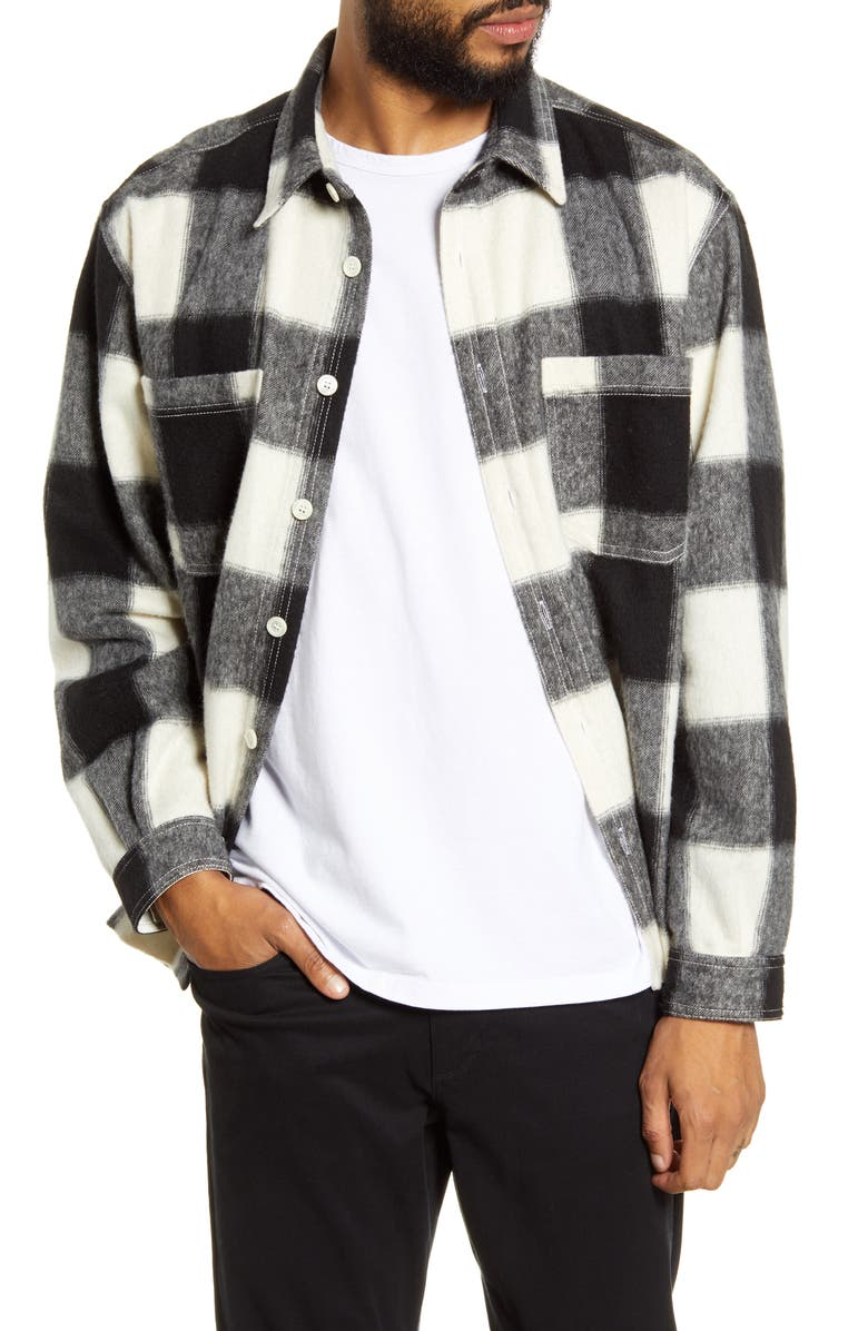 HOPE Classic Fit Flannel Overshirt, Main, color, 100