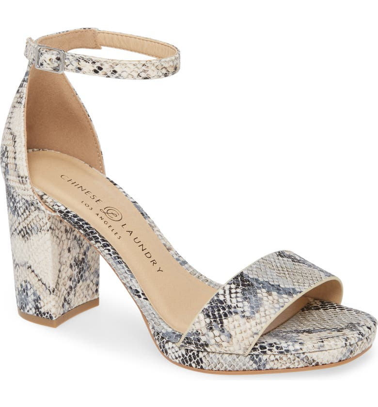 CHINESE LAUNDRY Teri Sandal, Main, color, CREAM FAUX LEATHER
