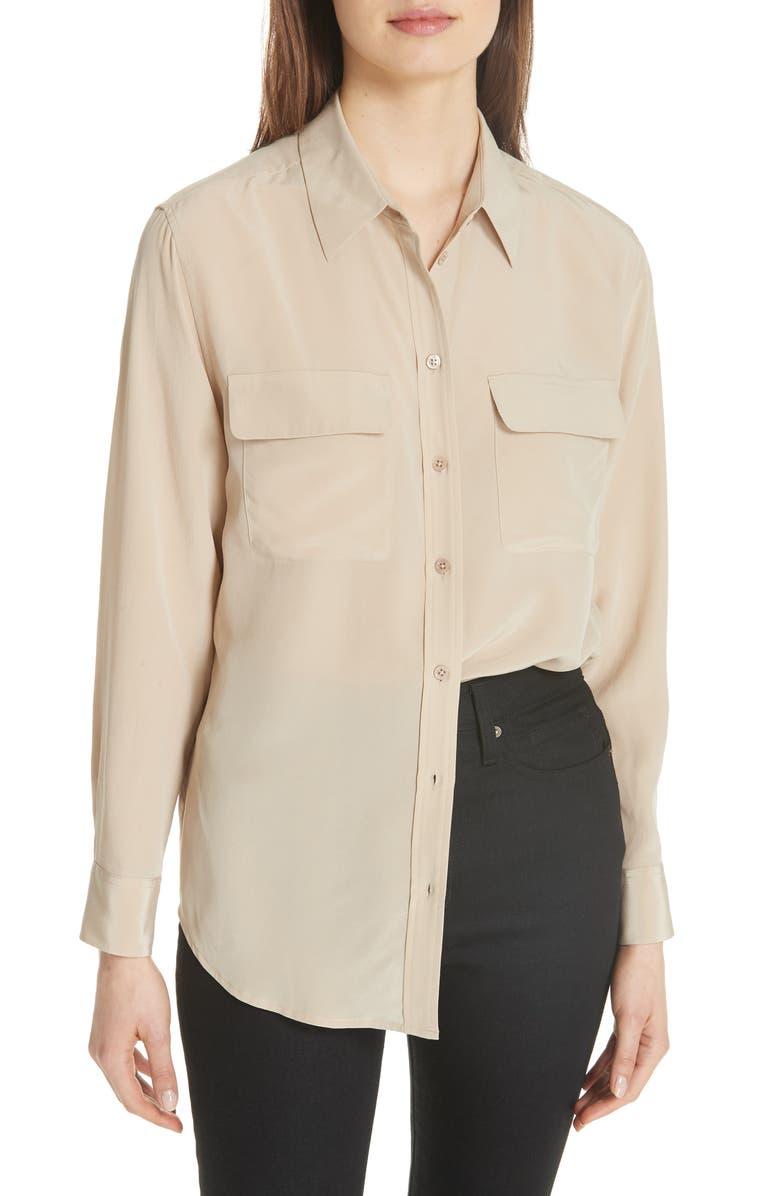 EQUIPMENT 'Signature' Silk Shirt, Main, color, 261