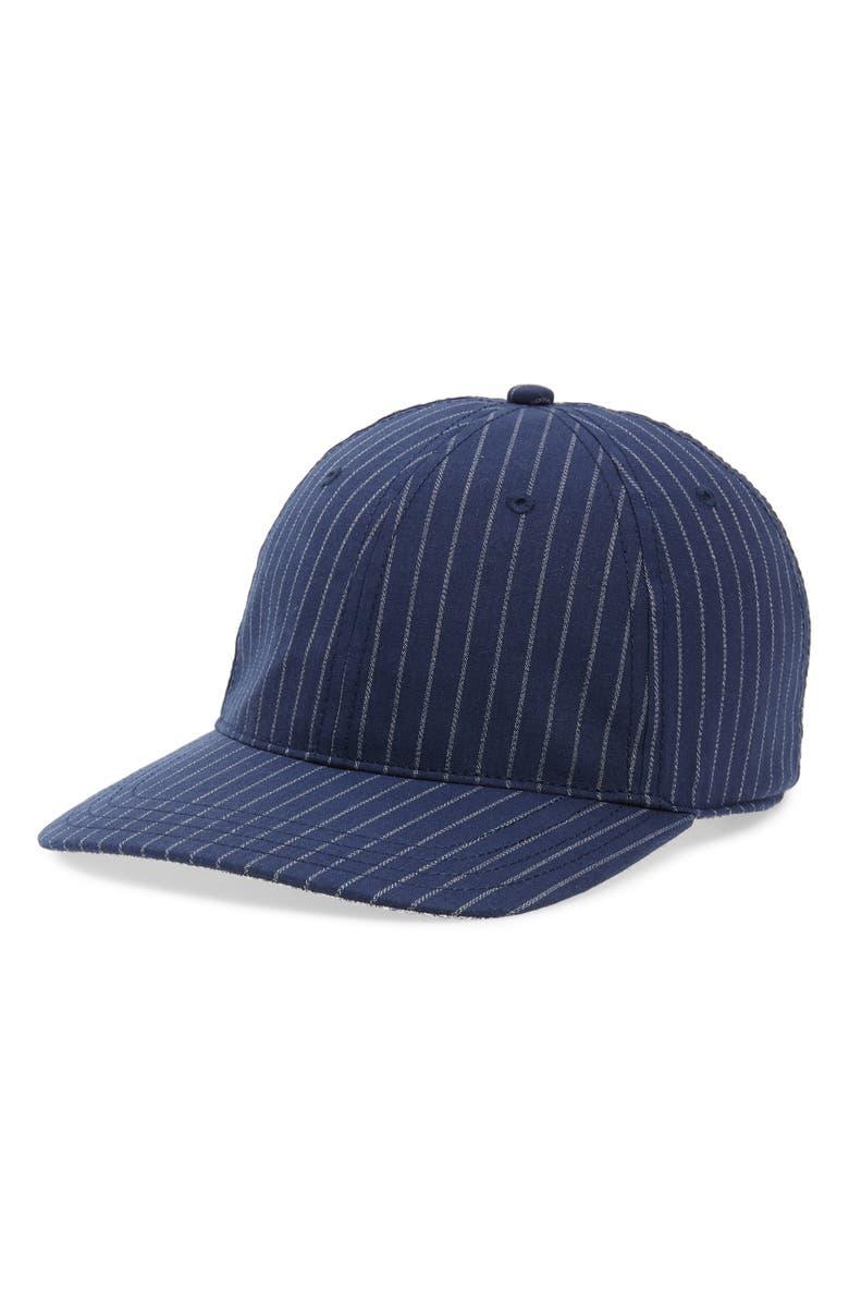 GOORIN BROS. Loosen Up Pinstripe Cap, Main, color, NAVY