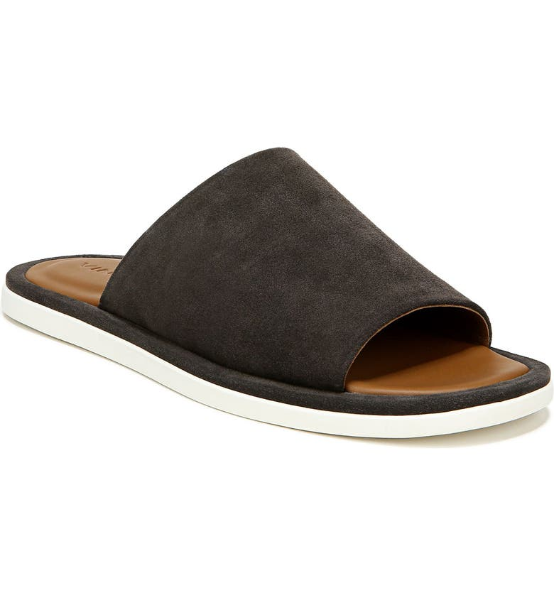 VINCE Devoe Slide Sandal, Main, color, GRAPHITE