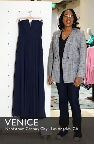Strapless Chiffon A-Line Gown, sales video thumbnail