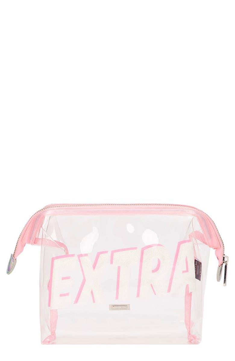 SKINNYDIP Extra Makeup Bag, Main, color, NO COLOR