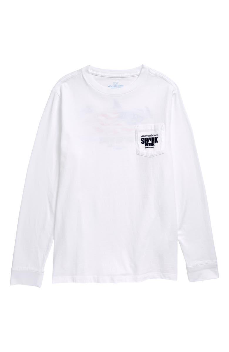 VINEYARD VINES x Shark Week<sup>™</sup> Long Sleeve T-Shirt, Main, color, WHITE CAP