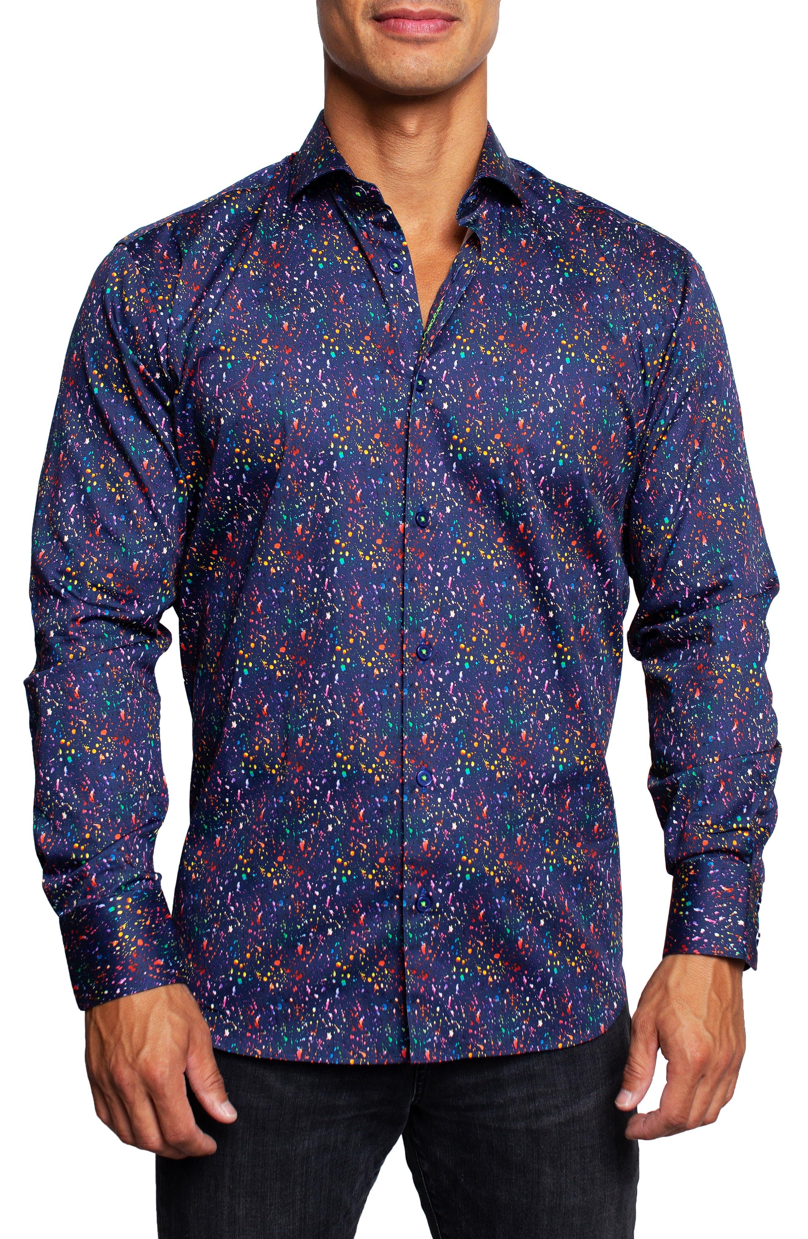 Einstein Candyrain Black Button-Up Shirt