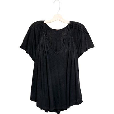 Free People Lovely Day T-Shirt, Black