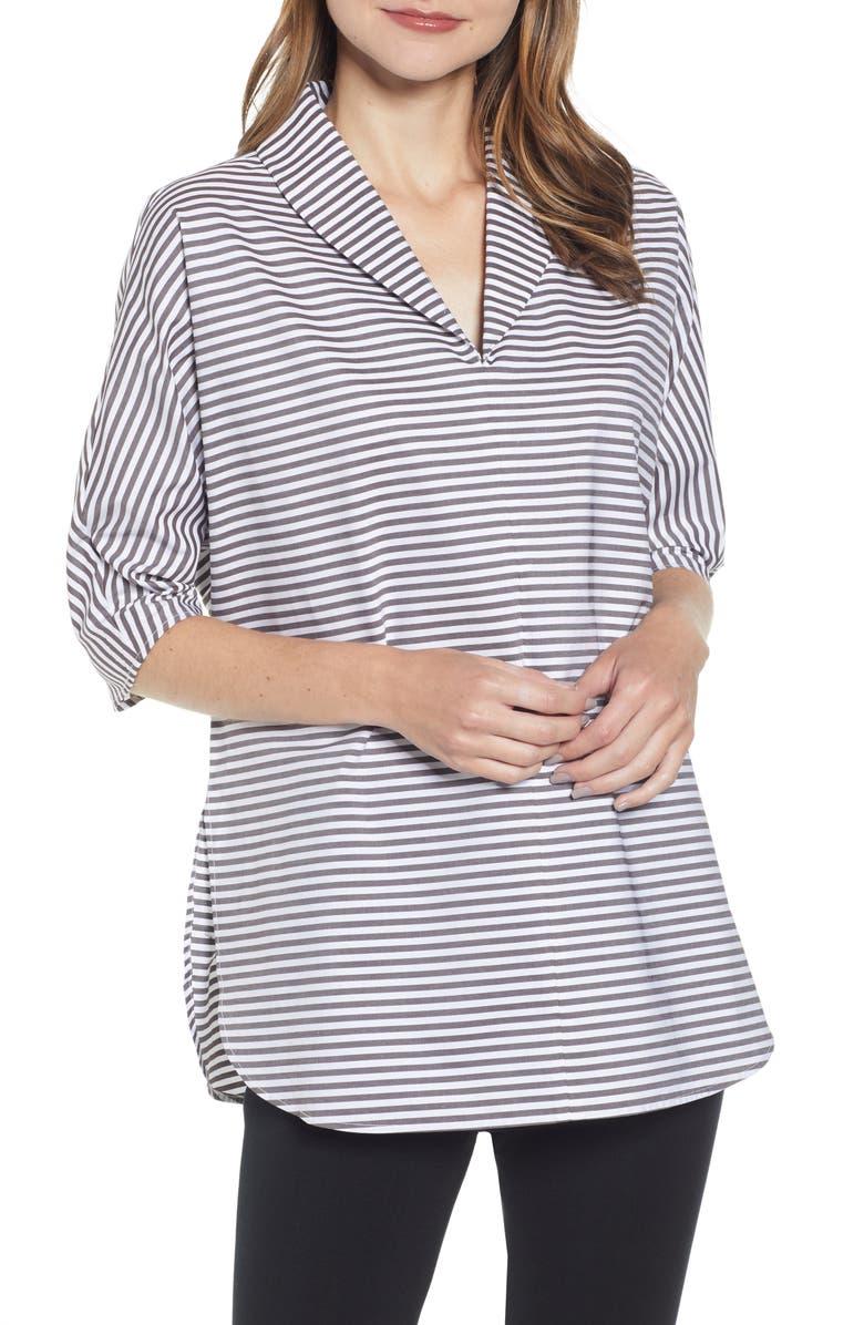 MING WANG Stripe Tunic, Main, color, 021