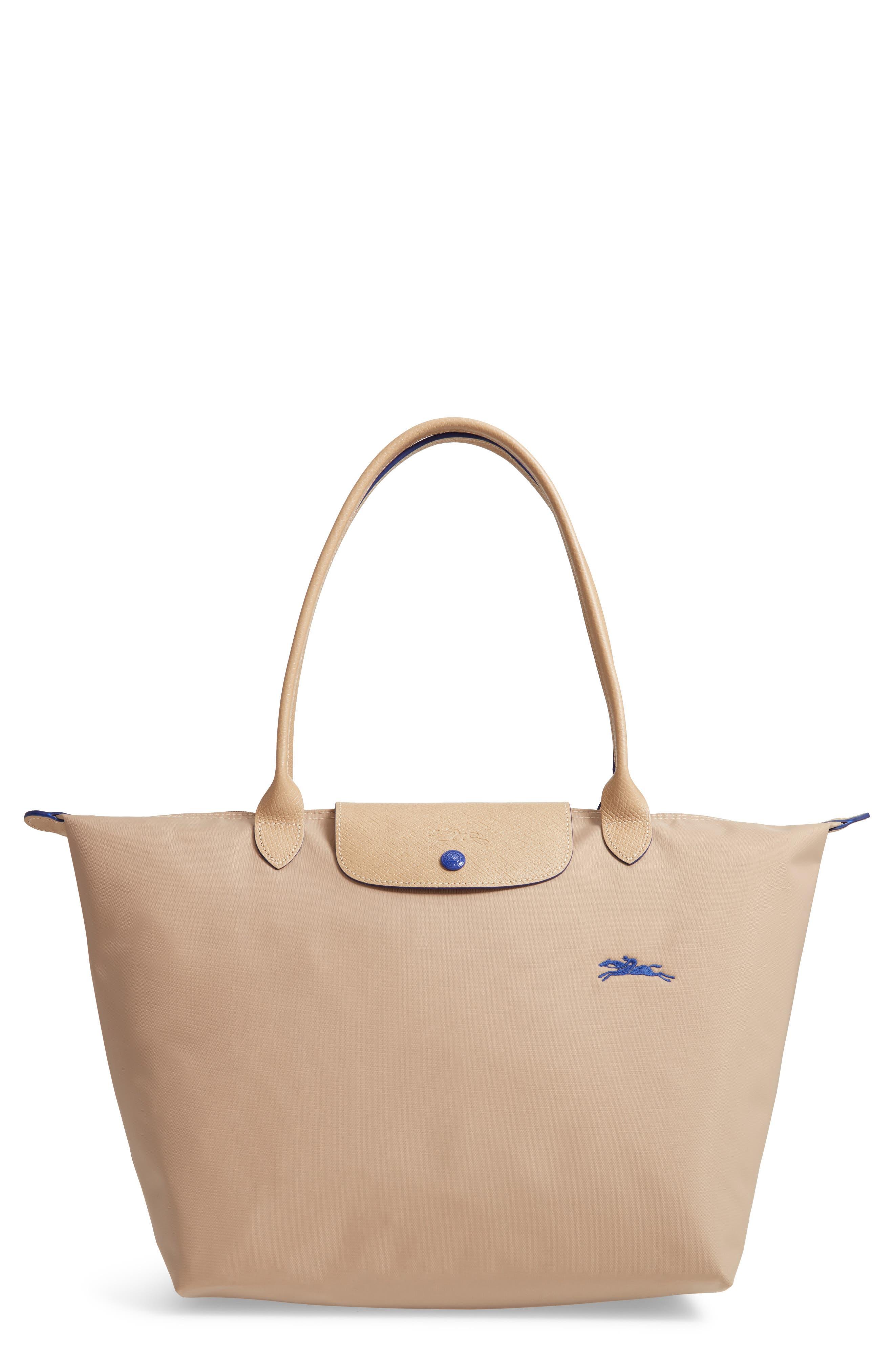 Image of LONGCHAMP Large Canvas Club Shoulder Tote Bag