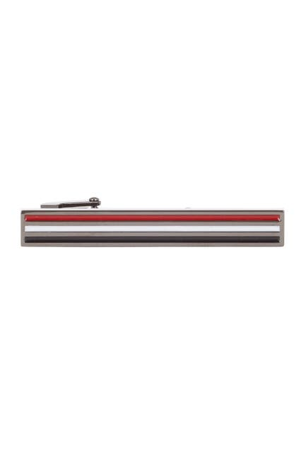 Image of Hart Schaffner Marx Red, White, Black Enamel Tie Bar