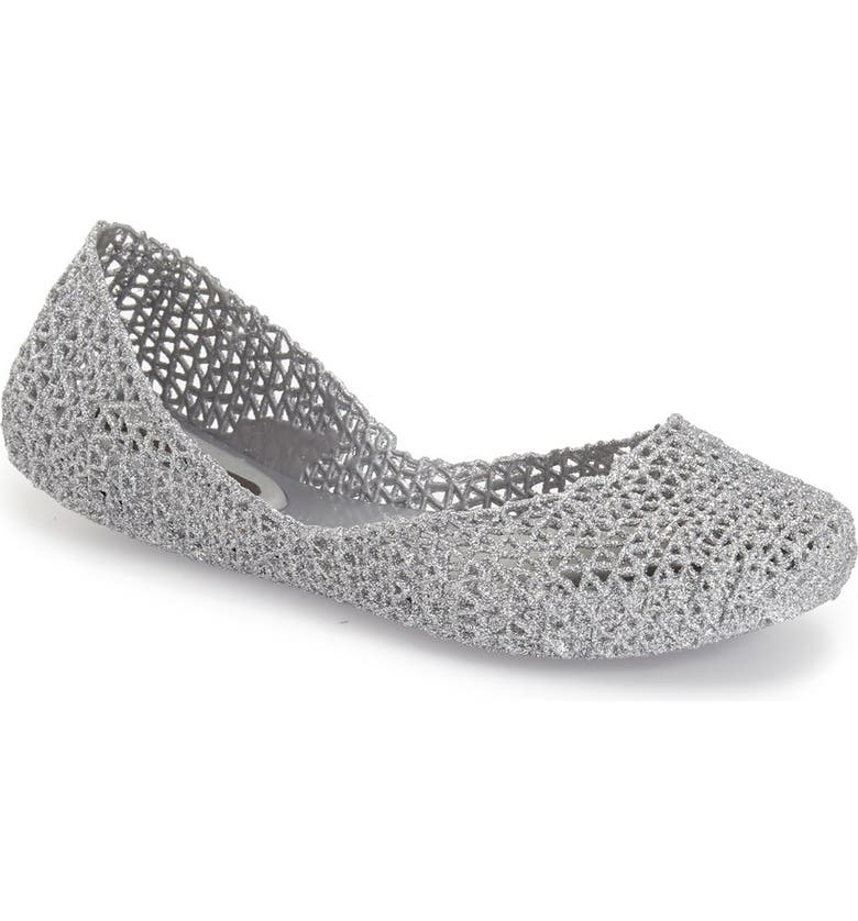 MELISSA 'Campana Papel VII' Jelly Flat, Main, color, SILVER