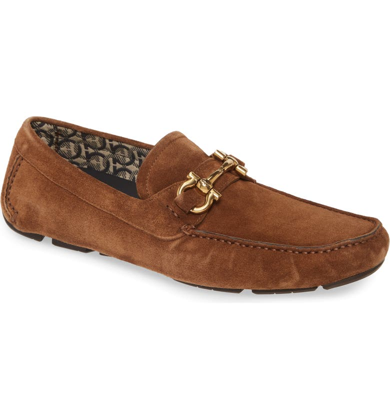 SALVATORE FERRAGAMO Parigi Bit Driving Moccasin, Main, color, BROWN SUGAR
