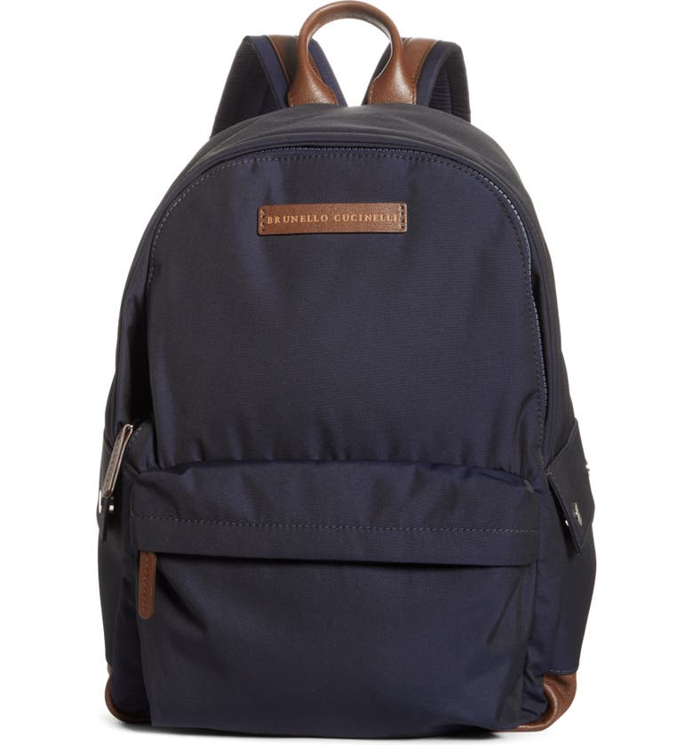 BRUNELLO CUCINELLI Backpack, Main, color, NAVY